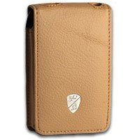 Lamborghini Deluxe Fitted Leather Case for the 60& 80GB Ipod, Tan. - Leather Deluxe Ipod Case