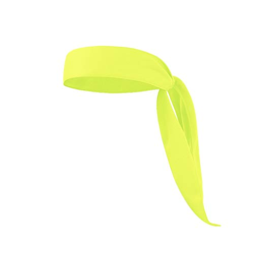 Head Tie Sports Headband Running Tennis Karate Pirates Stretch Moisture Wicking Yellow