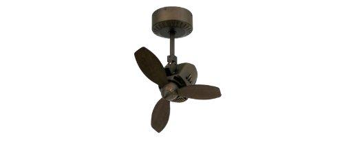 """TroposAir Mustang 18"""" Oscillating Indoor/Outdoor Ceiling Fan in Rubbed Bronze"""