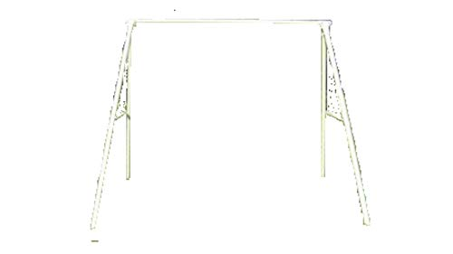 White Powder-Coat Painted Steel-Tube Frame 4' or 5' Wide Lawn Swings with 600 lb weight capacity