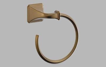 - Brizo 694630 Wall Mount Towel Ring from the Virage Collection, Brilliance Brushed Bronze