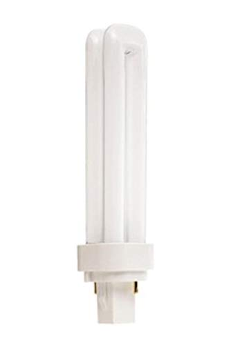 (Case of 10) Satco S8321 - CFD18W/827 18-Watt 2700K Double Tube 2-Pin G24d-2 Base T4 Compact Fluorescent Lamp