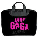 JOJO custom laptop bag Lady Gaga Logo Star computer handbags for 13 inch messenger bag office easy carry