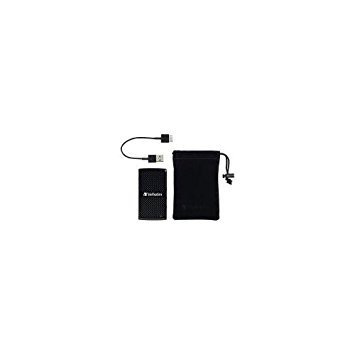 Verbatim 256GB External USB 3.0 Portable Hard Drive Sleek black VER47681