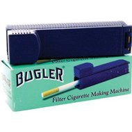 (BUGLER FILTER CIGARETTE MAKING MACHINE BOX OF 5 with Free BakeBros Silicone Container and Sticker Assorted Colors )