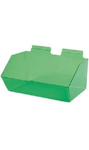 "Buy All Store 6 Slatwall Bins Dump Acrylic Green 12"" x 9 ½"" x 5 ½"" Wire Grid Slat Wall -  buyallstore"