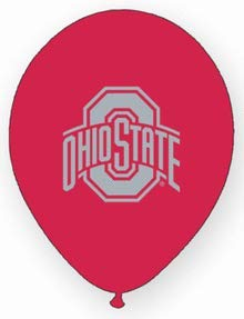 (Collegiate Latex Balloons Ohio State Package of)