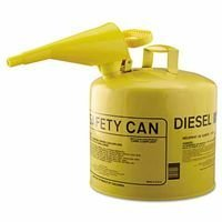 Eagle Mfg 5Gal.Metal Yellow Type Isafety Can W/F-15 Funnel - 1 CAN