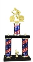 Express Medals 2 Column Male Cycling Trophy by Express Medals