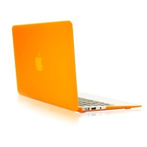 """Smart Tech ® AIR 13-inch Rubberized Hard Matte Case Cover for Apple MacBook Air 13.3"""" (Models: A1369 and A1466) (orange)"""