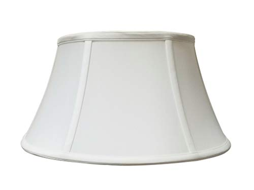 Royal Designs Shallow Drum Bell Billiotte Lamp Shade, White, 13 x 19 x 11.26 (BS-711-19WH)