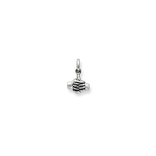 925 Sterling Silver Joined Hands Pendant Charm Necklace Talking Fine Jewelry Gifts For Women For Her from ICE CARATS