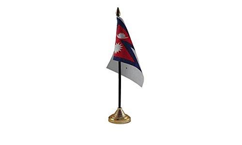 Las Banderas Nepal bandera de mesa: Amazon.es: Jardín