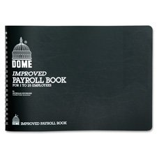 Dome 625 Payroll Books Wirebound 1-25 Employees 10
