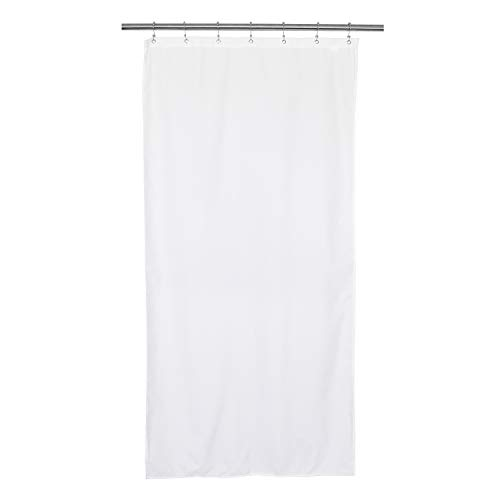 Barossa Design Waterproof Fabric Stall Shower Curtain or Liner 36 inch Wide, Hotel Quality, Machine Washable, White, 36x72 (Shower Liner Stall Fabric Curtain)
