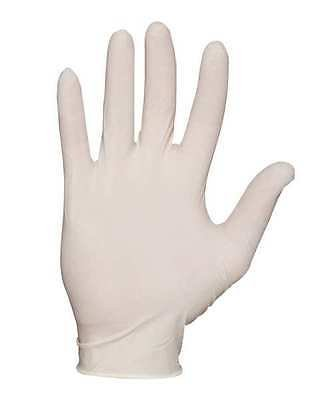Disposable Gloves, Latex, XL, Natural, PK100