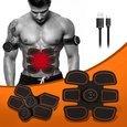 ABSLIMUS Pro USB Charging Muscle Toner Abs Simulator Abdominal Toning Belt Workouts Wireless EMS Training Home Office Fitness Equipment for Abdomen/Arm/Leg Training Men Women