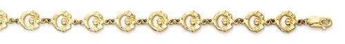 "Bague de Claddagh 14 carats longueur: 18,4 ""- JewelryWeb"