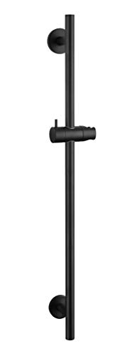 Kelica Solid Brass Traditional Hand Shower Slide Bar Matte Black Brass Shower Slide Bar