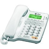 AT&T CL2909 Corded Speakerphone with caller ID/call waiting, White