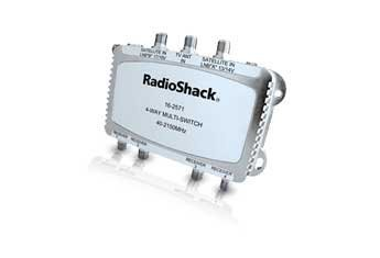 Radio Shack Satellite Passive 4 way Multi Switch for dual-LNB Systems and ()