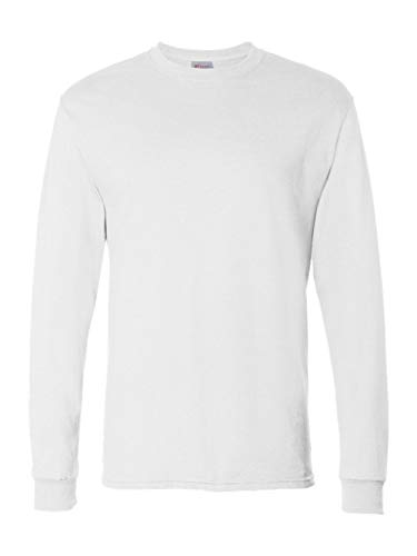 Hanes Men's 4 Pack Long Sleeve Comfortsoft T-Shirt, White, Medium by Hanes