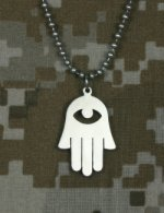 D&g Jewelry (Amazing GI Jewelry Hamsa/Chamsah (Hand of G-d) 100% Stainless Steel with Beaded Chain 24