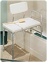 RMB15011EA - Deluxe Vinyl Padded Tub Transfer Bench w/Full Seat