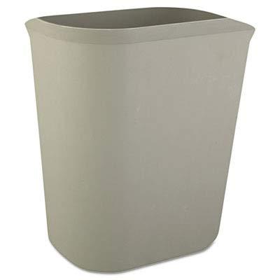 Rubbermaid Commercial RCP 2541 GRA RCP2541GRA Fire-Resistant Wastebasket, Rectangular, Fiberglass, 3.5 gal, Gray
