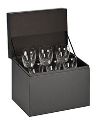 Waterford Crystal Lismore Essence Double Old Fashioned Glasses, Deluxe Gift Box, Set of 6