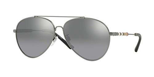 - Burberry Women's BE3092Q Sunglasses Matte Gunmetal/Polar Grey Mirror Grad Silver 60mm
