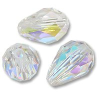 Swarovski Tear Drop Beads 5500 9x6mm Crystal AB (Package of 1)