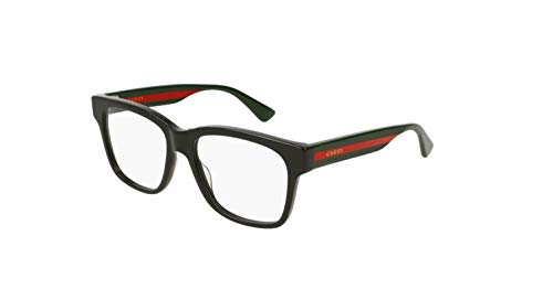 Gucci GG0342O Eyeglasses 004 Black/Multicolor 56 mm