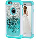 iPhone 6S Plus Case,iPhone 6 Plus Case Christian Quotes,SKYFREE Bible Verse Philippians 4:13 Hybrid Dual Layer Armor Defender Protective Case Cover for Apple iPhone 6 Plus/6S Plus 5.5 inch (Iphone 4 Hybrid Armor Case)