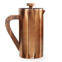 Starbucks Stainless Stiletto Coffee Press with Walnut Handle - Copper, 8-cup