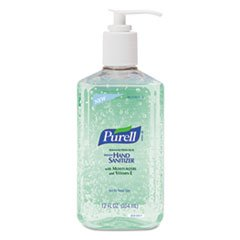 (Purell Products - Purell - Instant Hand Sanitizer w/Aloe, 12-oz. Pump Bottle, 12/Carton - Sold As 1 Carton - Stay clean without soap or water! - Kills 99.99% of the most common, illness-causing germs. - Dermatologist-tested, residue-free formula.)