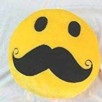 Jassi Toy Smiley Thick Plush Pillow Round Cushion Pillow Stuffed /Gift for Kids/for Birthday Gift