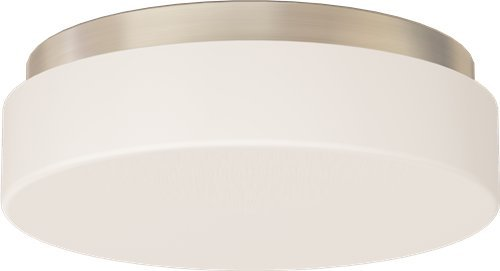 MONUMENT FLUSH-MOUNT CEILING FIXTURE, BRUSHED NICKEL, 11-1/2 X 4 IN., USES 2 13-WATT GU24 BASE LAMPS (NOT INCLUDED) (1/EA) ()