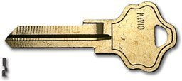 Kw10 Key Blanks 6 Pin For Kwikset Max (Titan) - 50/Bx - Kw10 Key Blank