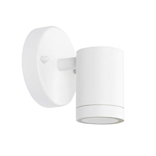 LJ Outdoor Light Wall Sconce 203 WH7 Stainless Steel Pure White Paint Bright LED 5