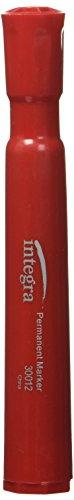 Integra Permanent Marker, Chisel Tip, 4/Pack, Black/Red/Blue/Green ()