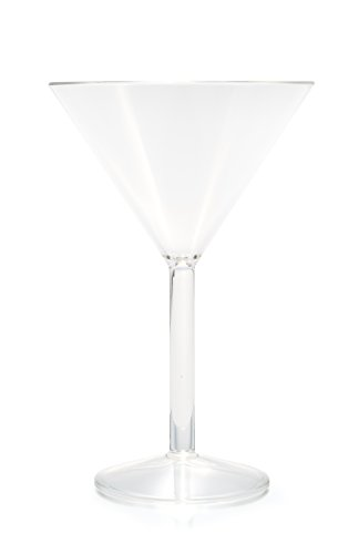 Camco Unbreakable Travel Martini Glass- 10 Ounce, Dishwasher Safe, BPA Free,  Perfect For Picnics, Cookouts, and The Beach - Set of 8 (Martini Dish)