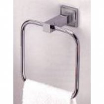Valsan 67440CR Chrome Cubis Plus 5.750 Inch Towel Ring ()