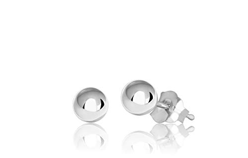Premium Sterling Silver Ball Stud Earrings - Stud Mm 4 Earrings