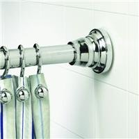 ZPC Zenith Products Corporation Decorative Tension Shower Curtain Rod, Chrome