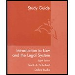 Introduction to Law and the Legal Systems, Schubert, Frank, 061831203X