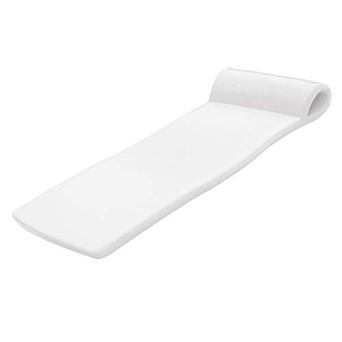 "Texas Recreation Sunsation 1.75"" Thick Swimming Pool Foam Pool Floating Mattress, White"