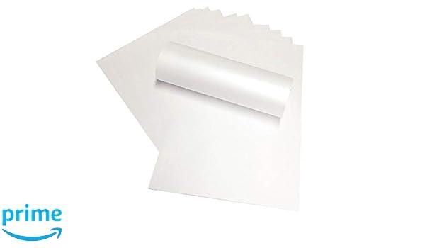 Papel brillante de doble cara de 120 g/m², color blanco ...