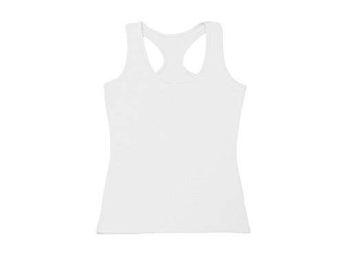Absolutely Perfect Womens Sexy Basic Pure Cotton Sleeveless Bottoming Shirt Vest White XX-Large