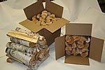 Cheap Split Birch Firewood (Box size 12H 12W 16L)